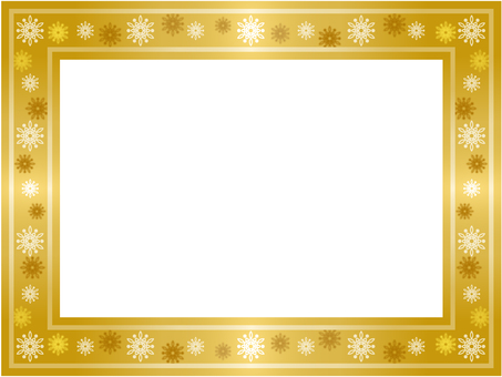 Snow frame (gold color)