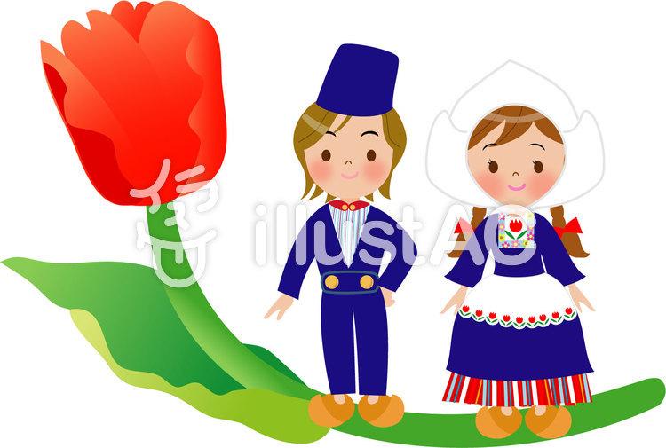 オランダの民族衣装男の子イラスト No 1035340無料イラストなら