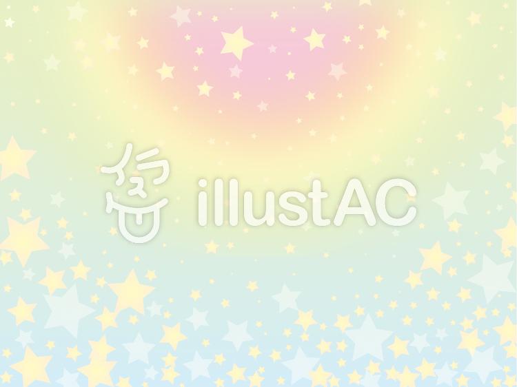 【フリーイラスト素材】星の集い