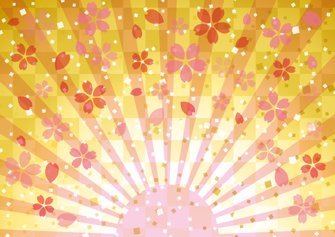 Cherry blossoms and sunrise _ Japanese style 02
