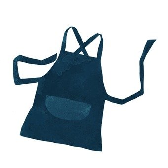 Hand-drawn apron