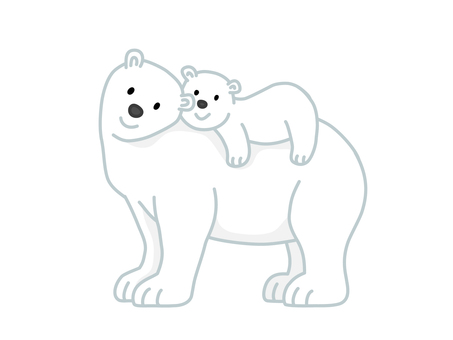 北極熊媽媽和小孩(Oyako)2