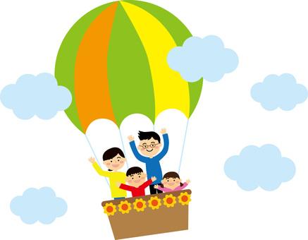 Family on a balloon