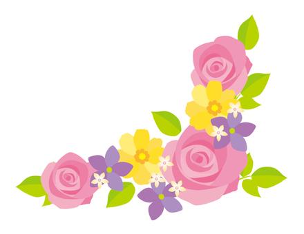Flower decoration frame pink