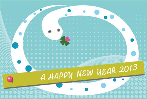 New Year's card illustration in 2013