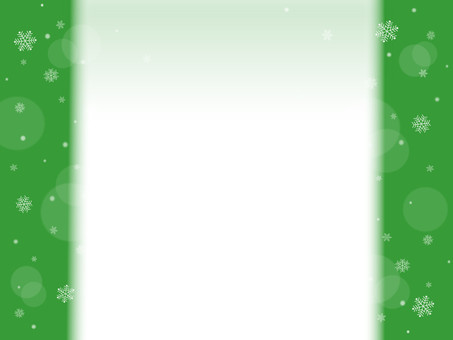 Snow Crystal Frame Background Green
