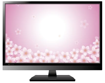 Television (screen cherry tree 1)