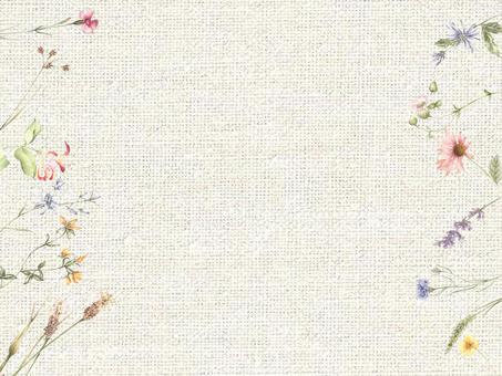 花枠375ー野の花のメッセージカード花枠