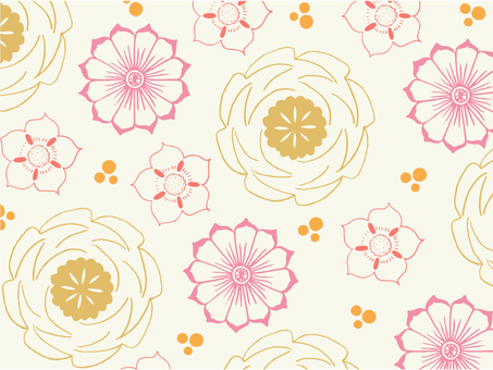 Japanese style flowers wallpaper · texture
