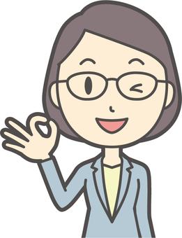 Suit women glasses-068-bust
