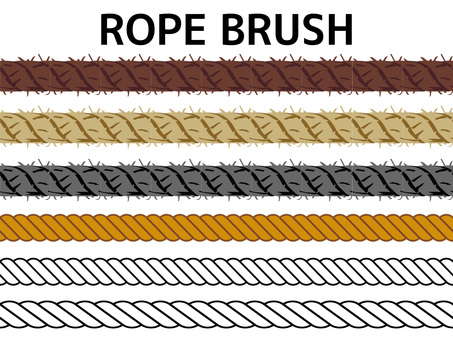 Various rope brush material collection