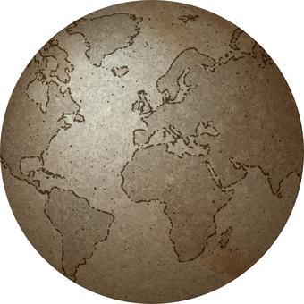 고풍스러운 지구본 이미지