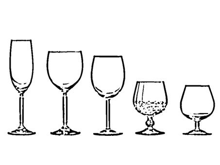 와인 잔 세트