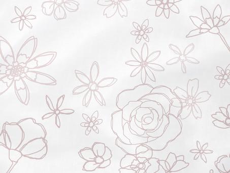 Handwritten flower satin fabric B background material