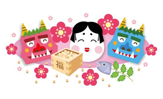 Setsubun's Okonomi Maki and Akae and Aoki