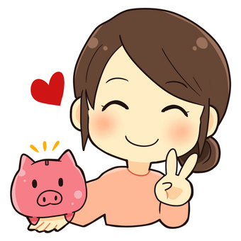 Piggy bank and housewife