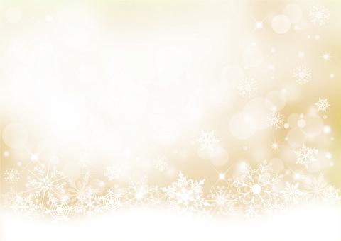 クリスマス_雪の結晶_淡い背景2321