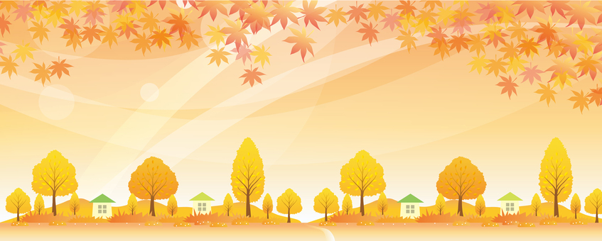 Landscape of Autumn Living Wide
