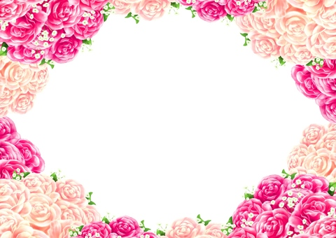 장미 꽃다발 프레임