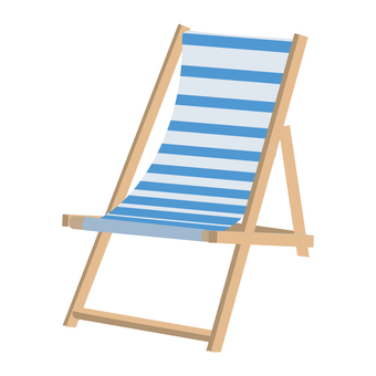 Beach chair blue