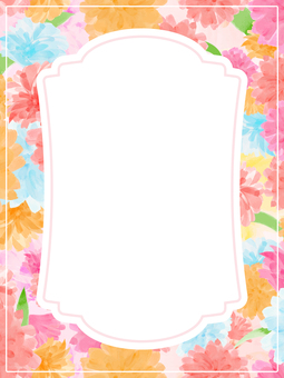 Frame 1a covered with flowers