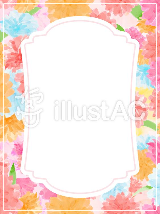 花を敷き詰めたフレーム1a