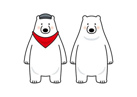 Polar bear flying