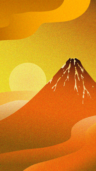 Goldfish Wind Red Fuji and Sunrise 16: 9 Vertical