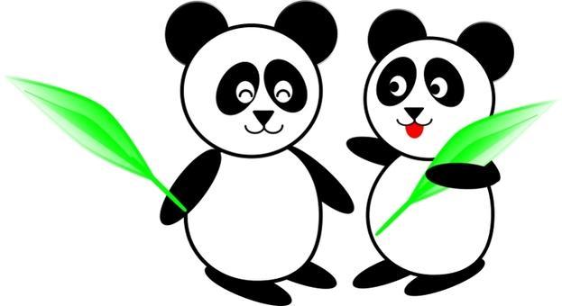 Friend panda bamboo