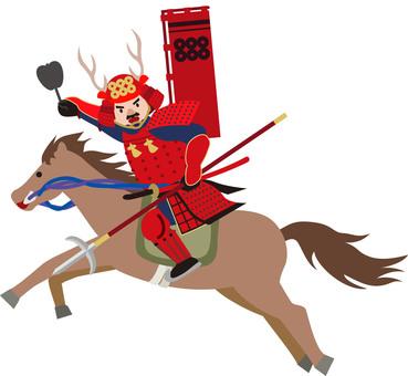 Sengoku Warrior Sanada Army Illustration