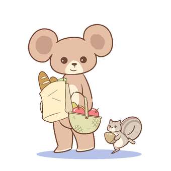 Shopping with bears