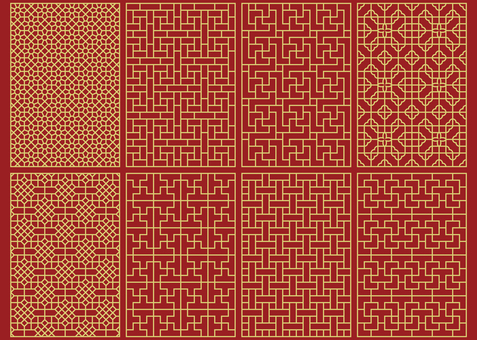 Chinese pattern - group lattice pattern 2