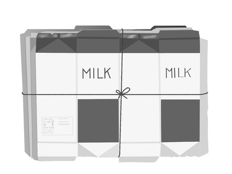 Milk carton monochrome