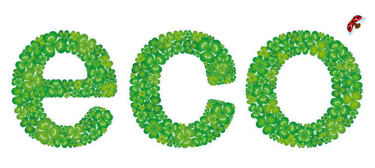 eco letter shaped clover
