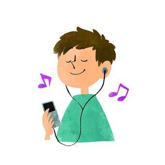 I listen to music