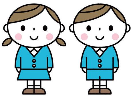 귀여운 어린이 / 원아 / 유치원 / 보육원