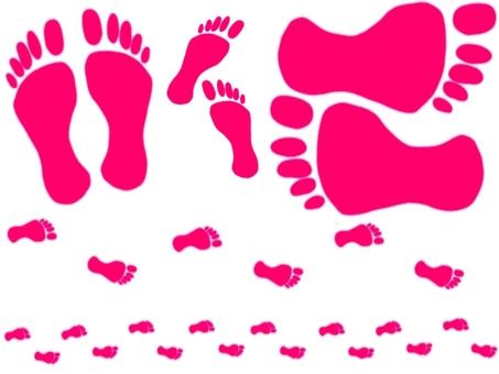 Footprint Red