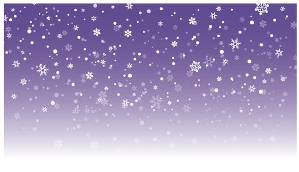 Snow falling night sky 2