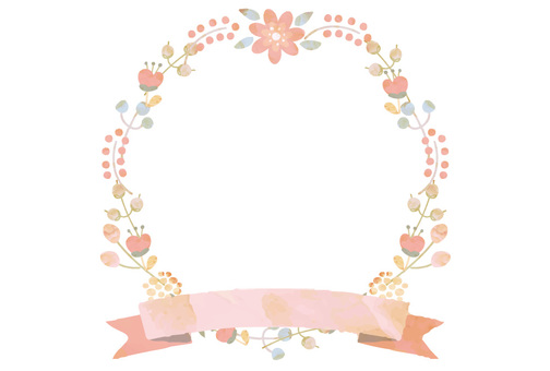 Wreath frame watercolor breeze