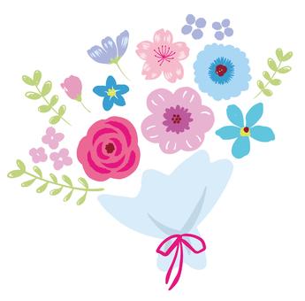 꽃다발의 일러스트 (3) -2