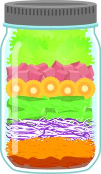 Jar salad D