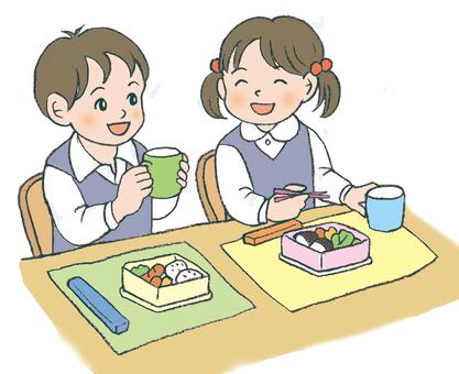 Two children 's lunch box