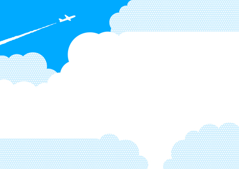 Airplane and cloud message card