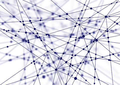 Blue network white abstract background material