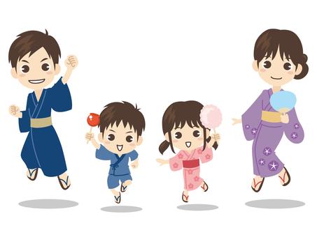 B032_ 유카타 가족