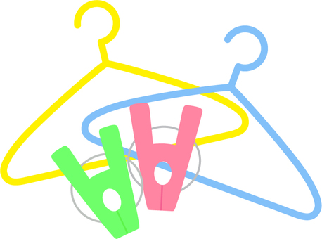 Washing clothes with laundry_ hanger