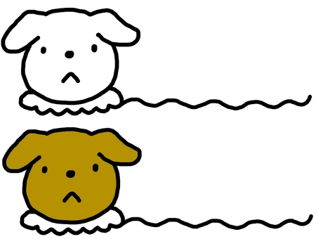 Dog wavy line drawing