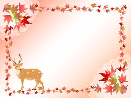 사슴과 단풍