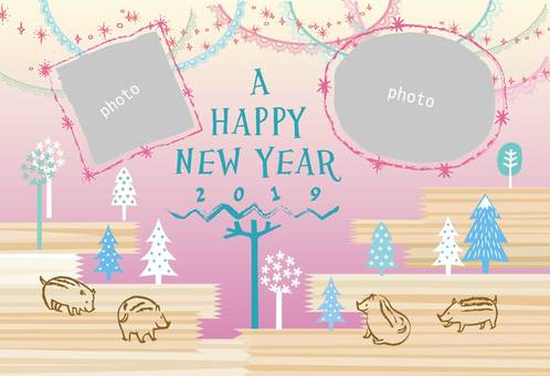 New Year card _ Frame Ya 18