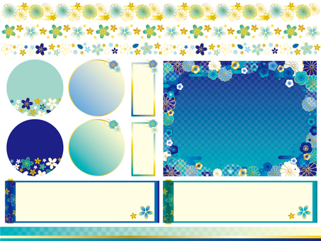 Summer Japanese Pattern Frame Set ~ Part 2 ~